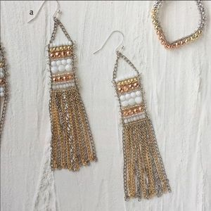 Stella & Dot Dakota mixed metal statement earrings